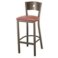 Barstool with Vinyl Seat and Circular Cut-Out, 44704