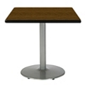 "Square Table with Silver Base - 36""W x 36""D, 44711"