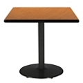 "Square Table with Black Base - 42""W x 42""D, 44714"