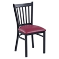 Vertical Slat Back Cafe Chair, 44726