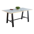 "Bayside Collaborative Standing Height Table with Plywood Edge 120""Wx42""D, 47037"