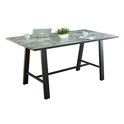 "Bayside Collaborative Standing Height Table with Black Edge 120""Wx42""D, 47049"