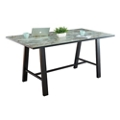 "Bayside Collaborative Standing Height Table with Black Edge 84""Wx42""D, 47046"