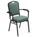 Stacking Fabric Banquet Chair with Arms, 51007