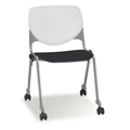 Figo Stack Chair with Polypropylene Seat and Casters, 51708