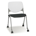 Figo Stack Chair with Fabric or Polyurethane Seat and Casters, 51709