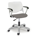 Figo Task Chair with Polypropylene Seat with Arms, 56081