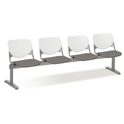 Figo Beam Seating with Four Fabric or Polyurethane Seats, 76597