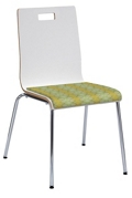 High Back Café Chair with Fabric Seat , 76886