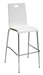 Bar Height High Back Stool with Laminate Seat, 76887