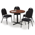 "36"" Breakroom Table and Fabric Chair Set, 44395"