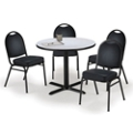 "42"" Breakroom Table and Vinyl Chair Set, 44392"