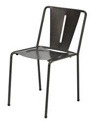 Armless Contoured Metal Chair , 51796