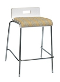 Counter Height Low Back Café Stool with Fabric Seat, 76888