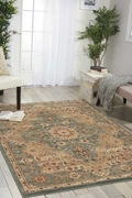 "kathy ireland by Nourison Traditional Persian Style Area Rug 5'3""W x 7'4""D, 82234"