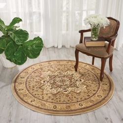 "kathy ireland by Nourison Large Medallion Area Rug 5'3"" DIA, 91539"