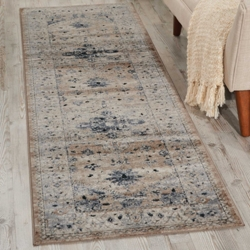 "kathy ireland by Nourison Botanical Runner 2'2""W x 7'7""D, 91578"