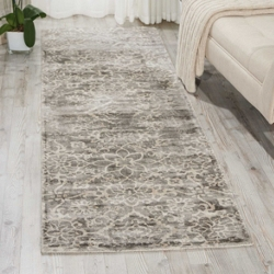 """kathy ireland by Nourison Shiny Floral Runner 2'3""""W x 8'D, 91553"""