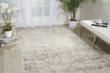 kathy ireland by Nourison Shiny Floral Area Rug 9'W x 12'D, 91557