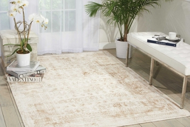 kathy ireland by Nourison Bordered Vine Area Rug 9'W x 12'D, 91567