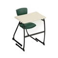 "Student Desk with Cantilever Base - 22"" H, 13798"