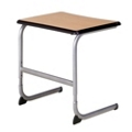 "Adjustable Cantilever Base Student Desk with Solid Laminate Top - 26""W, 13921"