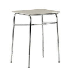 "Plastic Top Adjustable Height Student Desk - 36.5""W x 20""D, 13929"