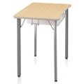 "Four-Leg Hard Plastic Top Desk - 25""H, 14043"
