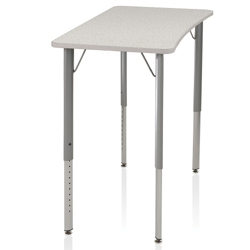 Adjustable Height Four-Leg Hard Plastic Top Desk , 14049