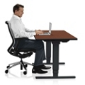 "Adjustable Height Sit Stand Desk - 48""W x 24""D , 41651"