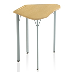 "Plastic Top Trapezoid Student Desk - 27""H, 41850"