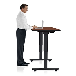 "Height Adjustable Mobile Table 60""W x 24""D, 41902"