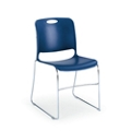 Stack Chair with Polypropylene Seat and Back with Glides, 51577