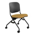 Flexible Poly Back Fabric Seat Armless Nesting Chair, 51481