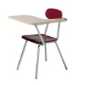 Student Left Tablet Arm Chair with Book Rack, 51527