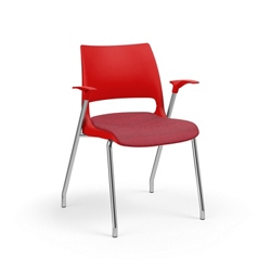 Poly Stack Chair with Fabric Seat, 51698