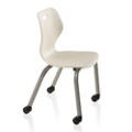 "Four Leg Chair Student Chair with Casters - 18""H Seat, 57089"