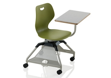Learn2 Mobile Chair Desk with Carpet Casters and Cup Holder, 14826