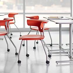 Four Legged Chair with Hard Floor Casters, 57294