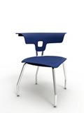 Triangular Four Legged Chair with Glides, 57287