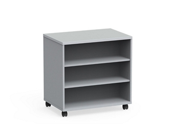 "Mobile Dual-Sided Six Shelf Bookcase - 36""W x 36""H, 37062"