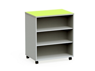 "Mobile Dual-Sided Six Shelf Bookcase - 36""W x 42""H, 37063"
