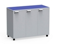 "Mobile Dual-Sided Locking Six Locker Unit - 54""W x 36""H, 37070"