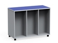"Mobile Dual-Sided Six Locker Unit - 54""W x 36""H, 37066"
