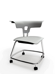 Four Legged Chair with Footrest and Hard Floor Casters, 57290