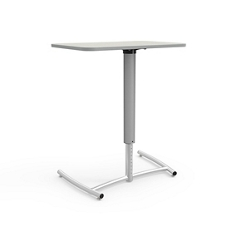 "Adjustable Height Single Post Cantilever Desk - 30""Wx20""D, 16505"