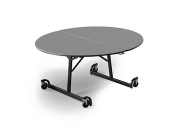 "60"" Round Folding Cafeteria Table with T-Leg, 46708"