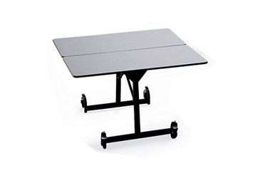 "48"" Square Folding Cafeteria Table with T-Leg, 46709"