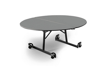 """Oval Folding Cafeteria Table with T-Leg – 66""""W x 60""""D, 46710"""