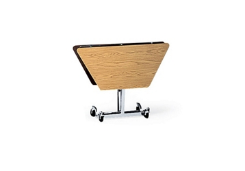 """Hexagonal Folding Cafeteria Table with T-Leg – 56""""W x 48""""D, 46712"""